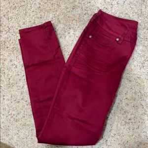 Burgundy jeggings